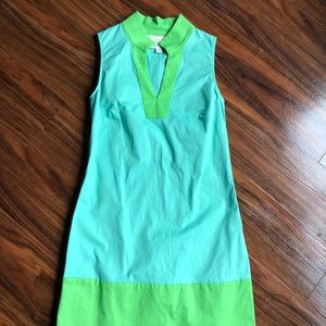 Aqua and Lime Sail to Sable Shift Dress Size XS
